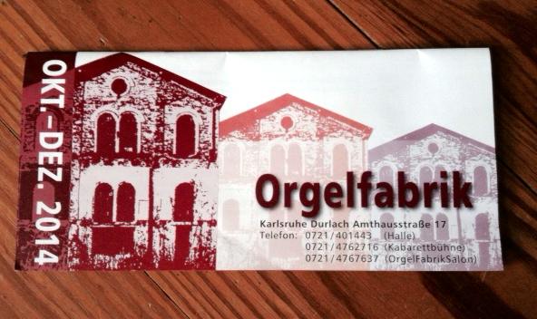 Orgelfabrik Flyer Winterprogramm
