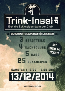 Flyer: Trink-Insel Kneipentour 13.12.2014