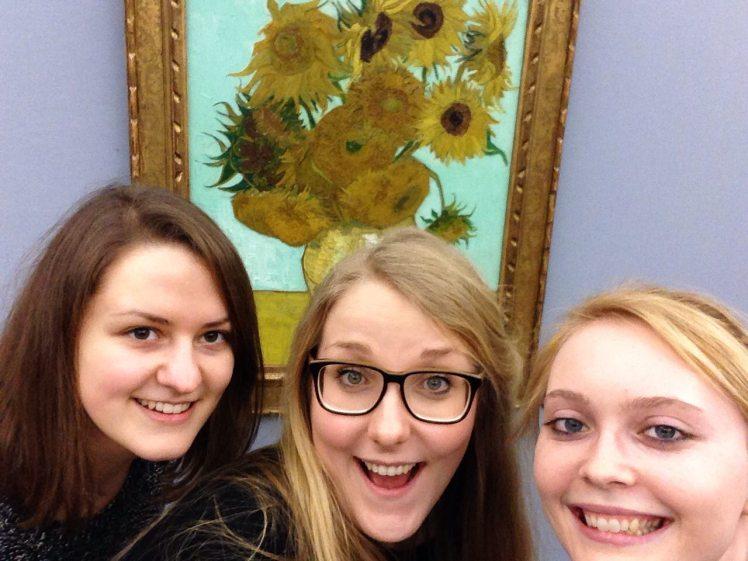 Vincent van gogh sonnenblumen selfie