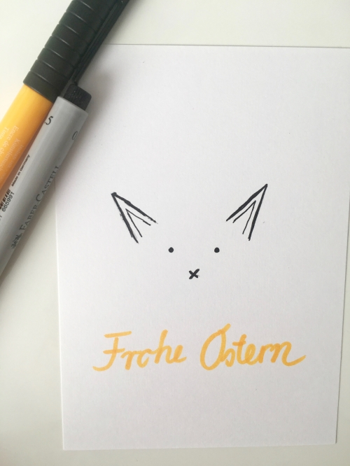 Ostern Karte Hase Frohe Ostern
