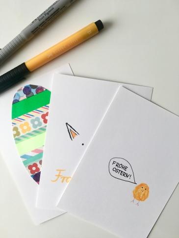 Ostern Karte Hase Frohe Ostern Küken Ei Washi Tape DIY Faber Castell