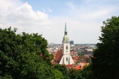 Ausblick auf die Altstadt Bratislava