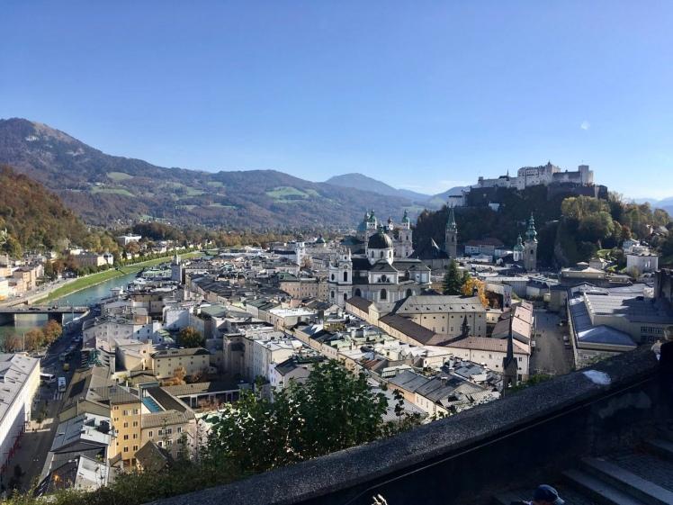 Salzburg Blick vom Museum der Moderne